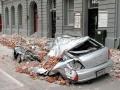 Car crushed in September 2010 Canterbury earthquake
