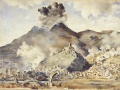 Bombing of Cassino painting