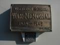 Clevedon School war memorial plaque