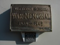 Clevedon School war memorial plaque