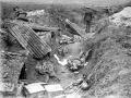 Captured German machine gun position, Grevillers, France
