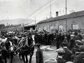 Dunedin wharf during the 1913 strike