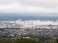 Dust clouds above Christchurch