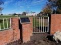 Clive war memorial pool and gates