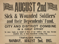 Fundraising poster for soldiers
