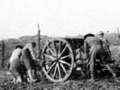 Artillery gun crew at Passchendaele, October 1917