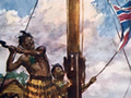 Hōne Heke fells the flagstaff at Kororāreka