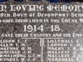 Devonport School First World War memorial