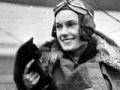 Jean Batten and Buddy the cat