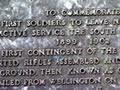 Karori South African War memorial plaque