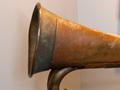 Shrapnel-damaged bugle