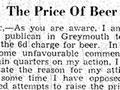 Paddy Keating's beer boycott letter