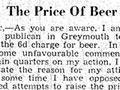 Paddy Keating's beer boycott letter