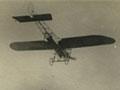 <em>Britannia</em> monoplane flying over Auckland