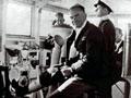 Captain Parry on bridge of the <em>Achilles</em>