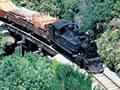 Train on Chasm Creek bridge, 1968