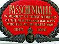 <em>Passchendaele</em> train plaque, Christchurch