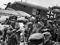 German mountain troops board aircraft