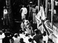 Raising the Union Jack in Apia