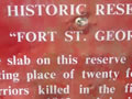Fort St George sign