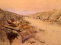 <em>Sunken road near Solesmes</em> by George Edmund Butler