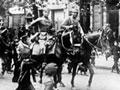 German cavalry enter Warsaw