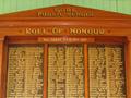 Gore Public School roll of honour board
