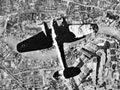 German bomber over London