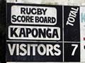 Kaponga rugby score board