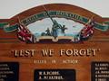 Knapdale District roll of honour board
