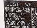 Kororāreka residents NZ Wars memorial