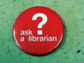 Library t-shirts and badges