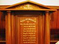 Lumsden Lodge roll of honour board
