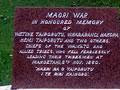 Mahoetahi NZ Wars memorial