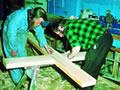 Making the Erebus memorial cross
