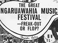 Reporting the Ngaruawahia music festival