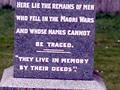 Old Taupiri Road NZ Wars memorial