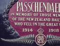 Passchendaele's memorial plate