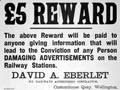 Reward notice in railway station