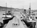 The ferries <em>Rangatira</em> and <em>Hinemoa</em> in Wellington