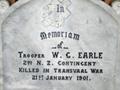 Riversdale St Marks Sth African War memorial