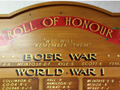 Riverton RSA roll of honour board