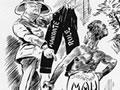 Mau versus mandate cartoon, 1930