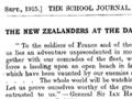 Gallipoli feature in the <em>School Journal</em>