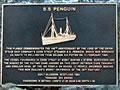 SS <em>Penguin</em> plaque