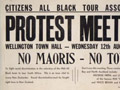 'No Maoris - No Tour' poster, 1959