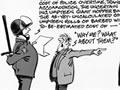 Policing the 1981 Springbok tour, cartoon