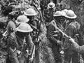 Troops in trench during the Battle of the Somme