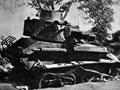 Destroyed British tank at Galatas