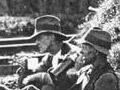 Railway workers take a smoko break
